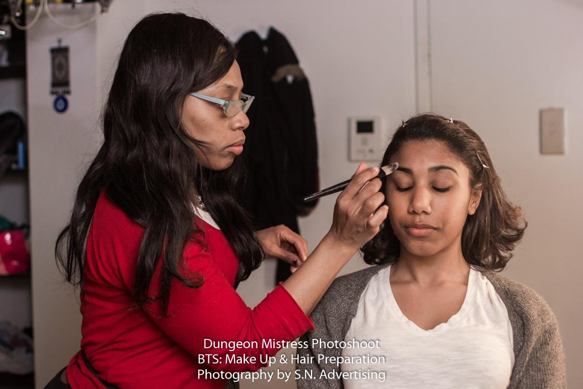 SN Advertising - Behind the Scenes Make-Up